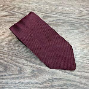 Ermenegildo Zegna Solid Maroon Silk Tie